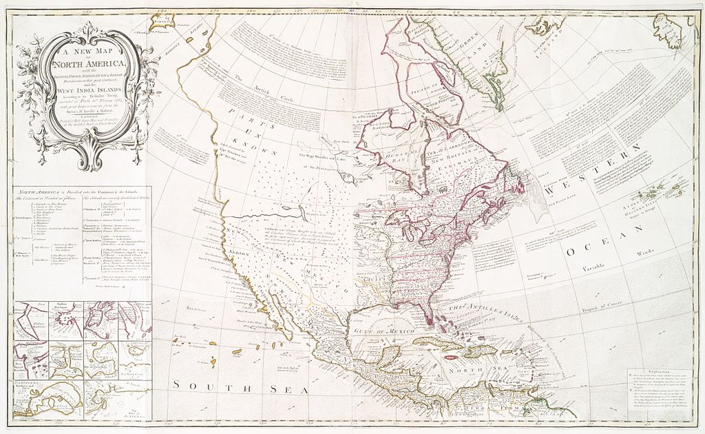 Map produced following the Treaty of Paris